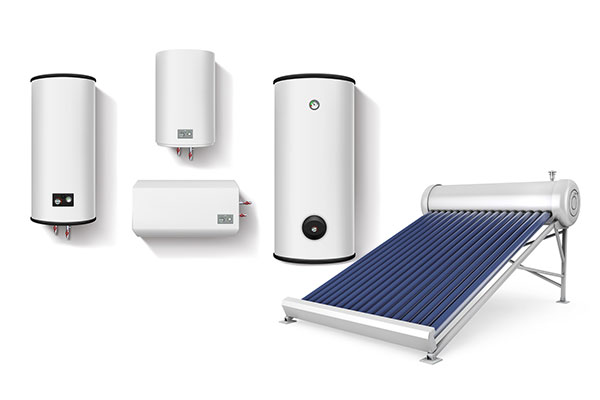 Electric, gas and solar hot water systems