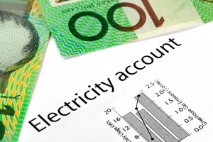 Electricity bill with Australia one hundred dollar bills