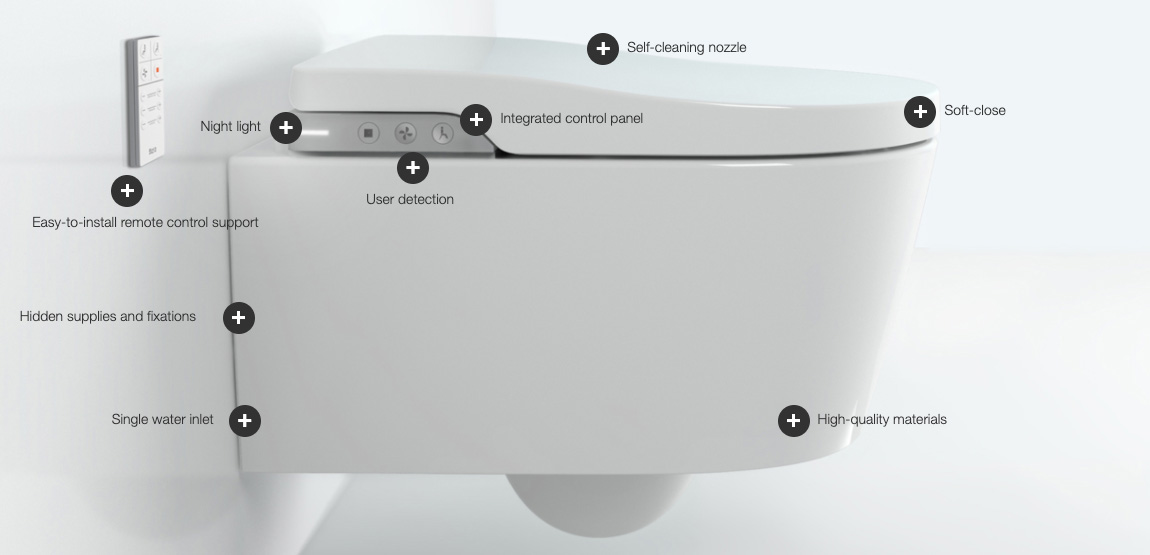 Roca In-Wash Inspira Smart Toilet installed in bathroom of home in Adelaide