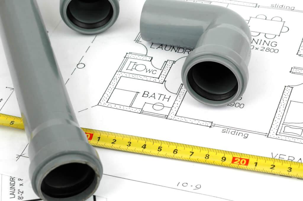 Bathroom renovation design and plumbing
